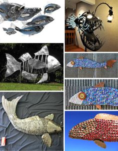 yard art from recycled materials | Artistic Evolution: From Scrapyard to Barnyard | WebEcoist