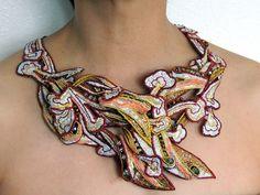 Necklace   Wai-Yuk Kennedy. 'Golden Age' Textile art.