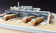 Lunde Studios Model Railroad Structure Kits N Scale N Scale Model Trains, Model Train Layouts, Escala Ho, Model Truck Kits, Train Table, Ho Trains, Bus Station, Plastic Model Kits, Paper Models