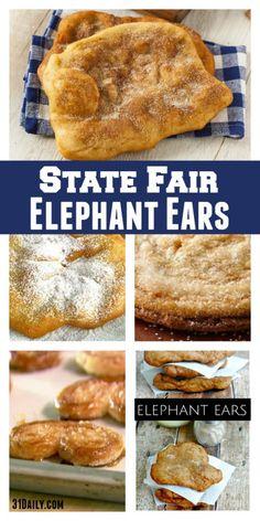Top State Fair Food Elephant Ears Recipe State Fair Food