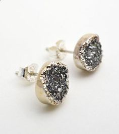 faceted-Pade Vavra Drusy Studs