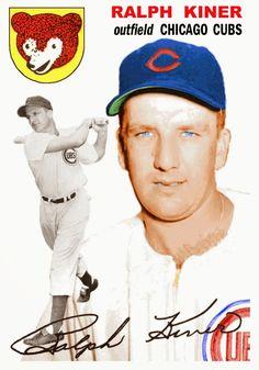 Bob Lemke's Blog: Creating a couple of custom Kiner cards Baseball Park, Cubs Baseball, Baseball Photos, Chicago Cubs History, Chicago Cubs Fans, National Baseball League, Mlb Players, Chicago White Sox, New York Mets