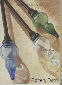 Glass Curtain Rod Finials With Images Finials For Curtain Rods