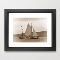 Tall Ship Tecla Framed Art Print by Lynn Bolt - $36.00