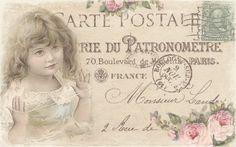 JanetK.Design Free digital vintage stuff: Carte Postale