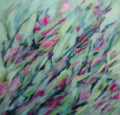 KIRSCHBLÜTEN Acryl auf Leinwand 100 x 100 cm