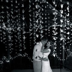 2000 White Origami Cranes + 2100 clear beads (size: ) - 100 Strands- Set of Wedding Backdrop - party decoration . Perfect Wedding, Our Wedding, Dream Wedding, Wedding Ideas, Wedding Things, Wedding Bells, Wedding Stuff, Wedding Flowers, Origami Paper Crane