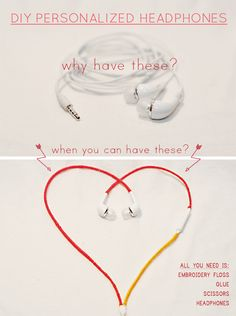 DIY Personalized Headphones – So Easy. All You Really Need Are Fingers