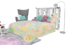 Luxusné plyšové deky dúhovej farby Beach Mat, Toddler Bed, Outdoor Blanket, Furniture, Home Decor, Child Bed, Decoration Home, Room Decor, Home Furnishings