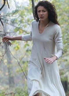 "Claire (Caitriona Balfe) runs for her life in Episode 1 ""Sassenach"" on Starz's Outlander via http://outlanderbrasil.tumblr.com/"