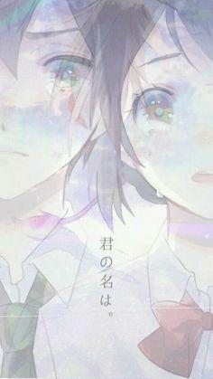 Kimi No Na Wa - Mitsuha Miyamizu & Taki Tachibana Wallpaper W, Kimi No Na Wa Wallpaper, Your Name Wallpaper, Anime Love, Sad Anime, Manga Anime, Anime Art, Anime Backgrounds Wallpapers, Animes Wallpapers