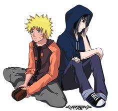 Naruto and Sasuke by mar418.deviantart.com on @DeviantArt