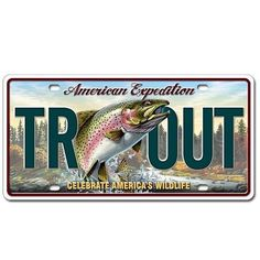 """American Expedition metal license plates are printed on thick aluminum with an embossed border and graphics. Actual size 11.75"""" by 6"""", the size of a standard license plate."""