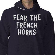 mens funny french horn hoodie tshirt