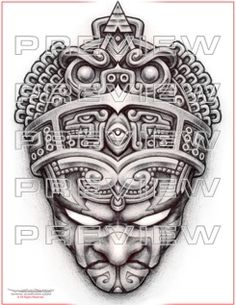 amazing prehispanic warrior tattoo design                                                                                                                                                                                 Más