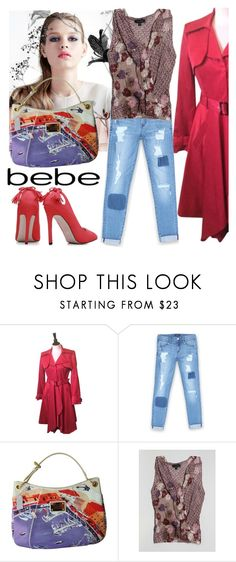 """All Laced Up for Spring with bebe: Contest Entry"" by carlina-tof ❤ liked on Polyvore featuring Bebe, Louis Vuitton and alllacedup"