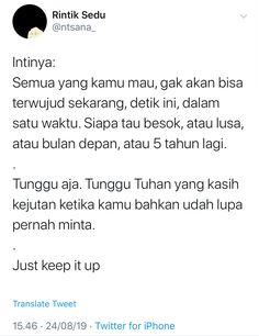 Reminder Quotes, Self Reminder, Mood Quotes, Daily Quotes, Positive Quotes, Best Quotes, Life Quotes, Quotes Galau, Galo