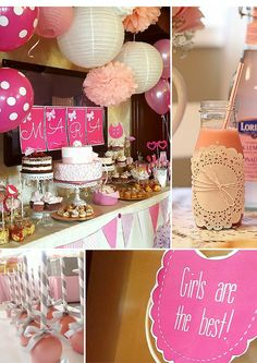 idei inspiratie candy bar fetite Baptisms, Candy, Bar, Table Decorations, Pink, Home Decor, Decoration Home, Room Decor, Candles