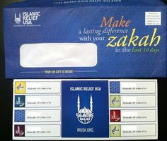Islamic Relief USA mailed out personalized address labels and a custom Islamic Relief USA sticker to their supporters as an Eid gift. #IRUSA #IslamicRelief