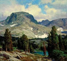 Clyde Aspevig (1951–Present), Approach To Pass Lake- Wind River Range, Wyoming, oil on linen, 36 x 40 in, JHAA 2007 Sold: $84,000