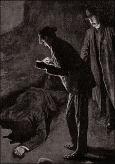 The Hound of the Baskervilles  Chapter XII Death on the Moor SIDNEY PAGET The Strand Magazine, February 1902 'IT WAS A PROSTRATE MAN FACE DOWNWARDS UPON THE GROUND.'