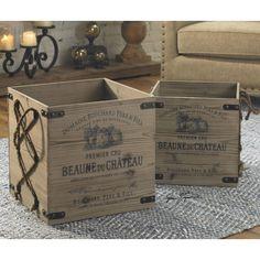 One Allium Way 2 Piece Crate Set & Reviews   Wayfair