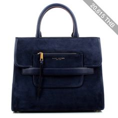 Marc Jacobs Madison Suede Ns Tote Midnight Blue Bag