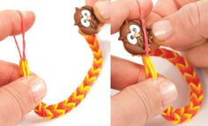 Check out Button Toggle Clasp Stretch Band Bracelet crafting ideas at A. Loom Band Bracelets, Rubber Band Bracelet, Rainbow Loom Bracelets, Loom Bands, Loom Band Patterns, Rainbow Loom Patterns, Rainbow Loom Creations, Cool Kids, Kids Fun