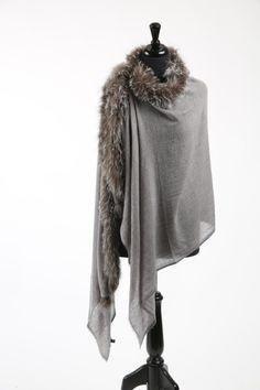 Luxury Fur, Silk and Cashmere Scarves, kimonos and kaftans from Wandering Bee Cashmere Scarf, Kaftan, Maui, Fur Coat, Kimono, Silk, Winter, Jackets, Design