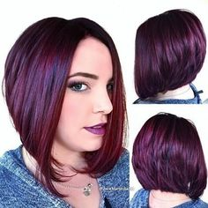 Credit to @jackmartinsalon Beautiful haircut and this gorgeous red wine color using #KenraColor 5RV To have your hair featured please tag @bobbedhaircuts #makeoverhaircut #asymmetricalbob #blowout #haircolor #haircut #hairdesign #newhair #ilovehair #bobbedhair #bobcut #ilovebobs #boblife #shorthaircut #haireducation #sexyhair #alinebob #stackedaline #stackedbob #notjusthowtocuthair #creativehair  #hairdo #hairdressing #hairdressers #creativecut #hairdyed #kenra #kenraprofesional