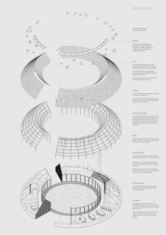 Mývatn Lake Cabins - Jesse Ewart Process Map, Isometric Drawing, Lake Tekapo, Floating House, Lake Cabins, Technical Drawing, Interior Architecture, Diagram, How To Plan