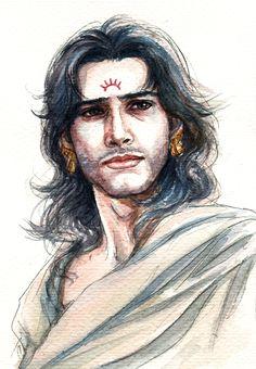 Fanart of Karna,Mahabharat,by Snowcandy.CC:BY-NC-ND