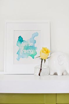Watercolor phrase art DIY
