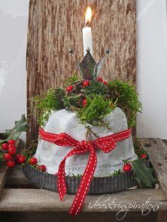 Beton, concrete, cake, Gugelhupf, Kuchen, Garten, garden, decoration, Dekoration, Rot, DIY, christmas, Weihnachten