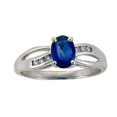 Sapphire & diamond dress ring crafted in 9ct Canadian white gold   If the size you require is not listed please contact us on queries@cliveranger.co.uk