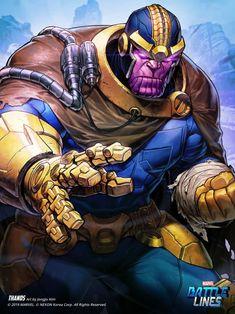 Marvel Battle Lines Artwork - Thanos secret wars, HAJE 714 Marvel Villains, Marvel Films, Marvel Art, Marvel Dc Comics, Marvel Games, Marvel Comic Character, Comic Book Characters, Marvel Characters, Character Art