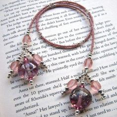 Handmade Beaded Bookmark / Book Thong HOLIDAY by BrossARTaddiction