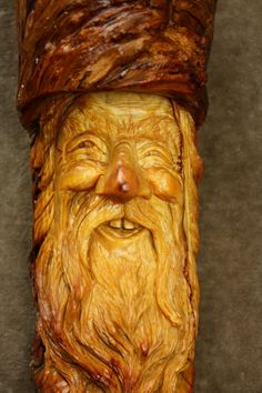 A Wood Carving Wood Spirit Ooak Art by TreeWizWoodCarvings on Etsy