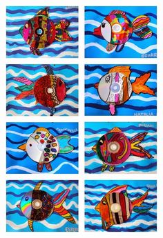 Plastiquem: FISH CD using white tagboard, used CDs, markers, permanent markers, scissors, and glue.