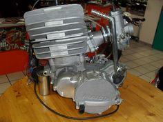 1983/84- Koestler manufactured Maico 490 motor, reed valved 2-stroke with stock Bing carburetor.