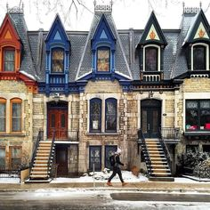Victorian style homes of Montreal's Saint-Louis Square, Canada. Alberta Canada, O Canada, Canada Travel, Montreal Ville, Montreal Quebec, Quebec City, Places Around The World, The Places Youll Go, Places To Go