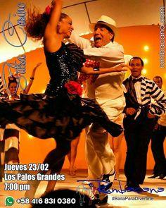 Aprende a Bailar #SalsaCasino HOY JUEVES 23/02 en Los Palos Grandes a las 7:00 pm. 17 años dedicados a la docencia del baile respaldan nuestro trabajo comprometido con la excelencia. Somos un grupo de personas con una pasión: #Bailar y una vocación: #Enseñar. Invita un amigo al #SanoVicioDeBailar compartiendo esta imagen en tus redes sociales. Si deseas más información escríbenos al whatsapp 58 416 831 0380