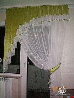 Cosemos Las Cortinas A La curtains How To Hang Curtains And Draperies, Home Curtains, Hanging Curtains, Kitchen Curtains, Window Curtains, Curtain Patterns, Curtain Designs, Curtain Inspiration, Rideaux Design
