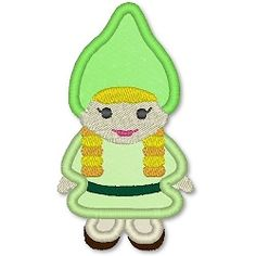 Gnome Girl Applique - 3 Sizes! | Spring | Machine Embroidery Designs | SWAKembroidery.com Lynnie Pinnie
