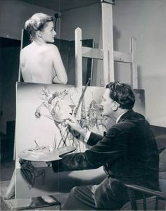 "Salvador Dali painting ""The Temptation of St. Anthony"" - 1946"