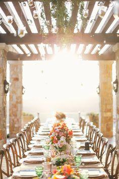Al fresco dining {via Bash Please} Wedding Ceremony, Our Wedding, Dream Wedding, Wedding Stuff, Fantasy Wedding, Wedding Tables, Wedding Pins, Wedding Details, Summer Wedding
