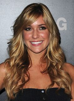 Kristen Cavallari's long luscious locks are smooth on top, thick and wavy in the middle, and glossy all over.