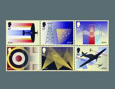 Battle of Britain Stamps by Hat-Trick Sesign for Jersey Post (Print Communications)