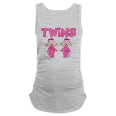 twins.girls.2 Maternity Tank Top if its girls