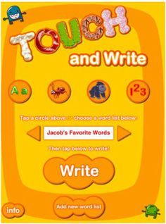 Video review of the Touch and Write app by FizzBrain Awesome app for preschool, pre-k, and kindergarten! Click picture to watch video via www.pre-kpages.com